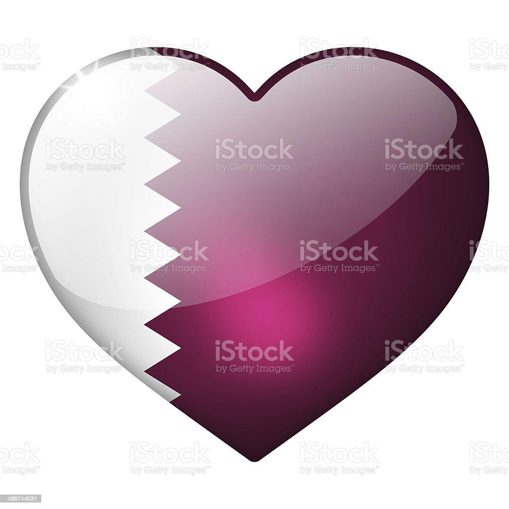 qatar heart button stock photo