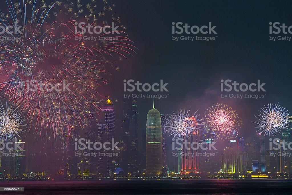 Qatar National Day 2014 stock photo
