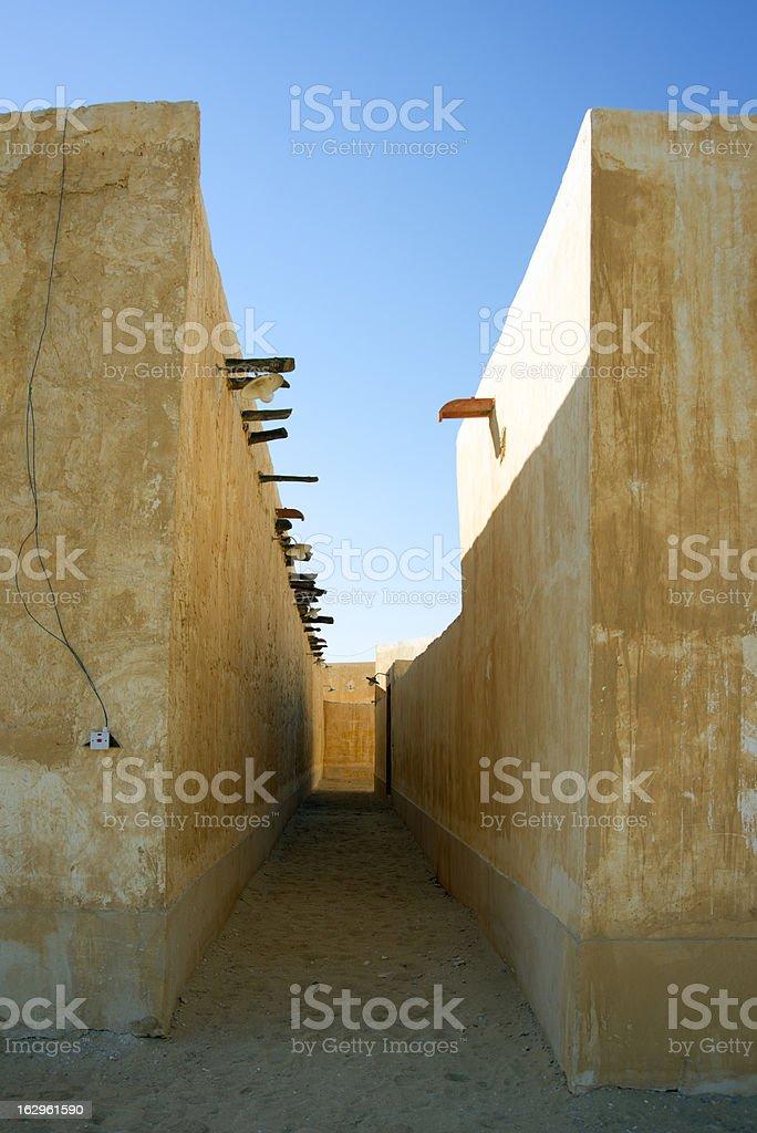 Qatar - Traditional Arabic Architecture royalty-free stock photo
