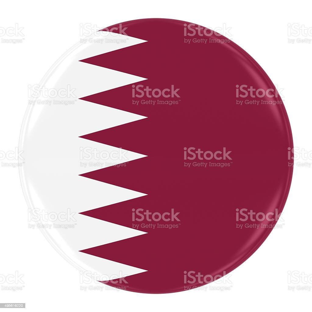 Qatari Flag Badge stock photo