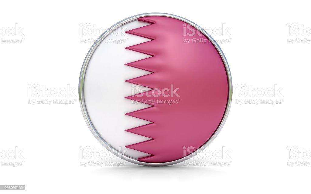 Qatari flag stock photo