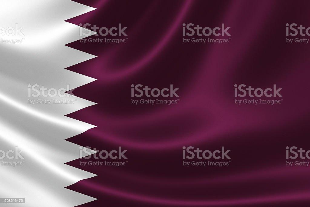 Qatar's Flag stock photo