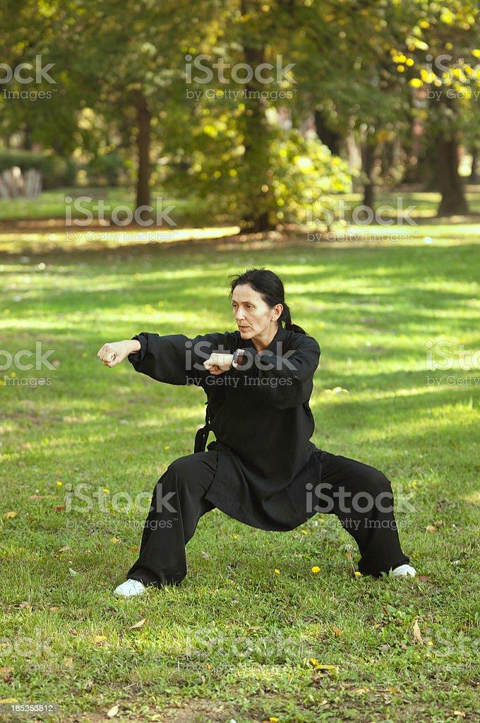 Qi Gong practice stock photo