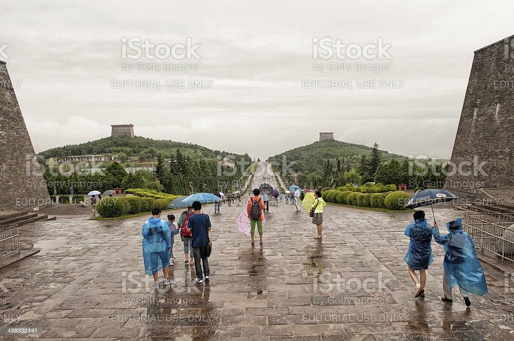 Qianling mausoleum stock photo