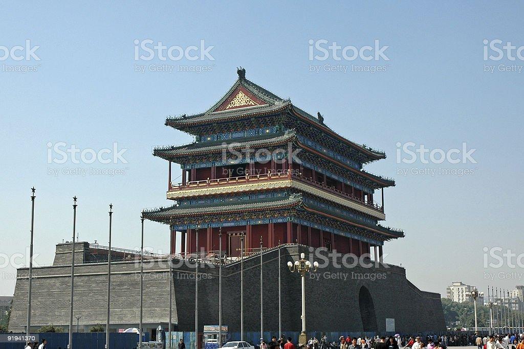 QianMen, Tiananmen Square, Beijing, China royalty-free stock photo