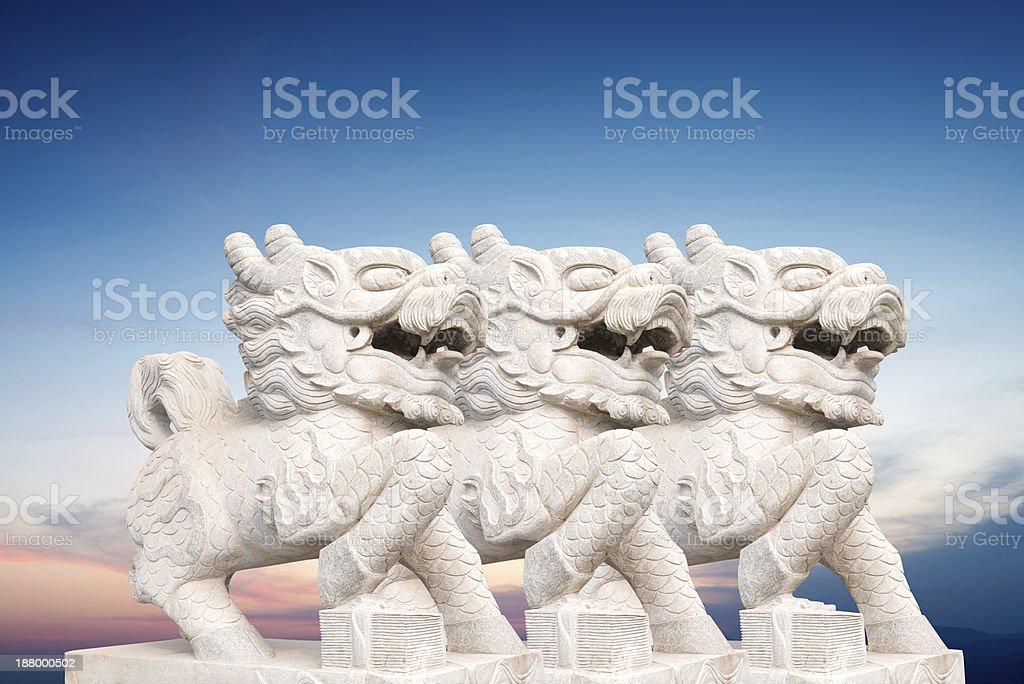 Qilin Kylin or Kirin royalty-free stock photo