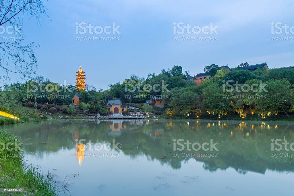 Qiling Pagoda in Daming Temple.Yangzhou,China stock photo