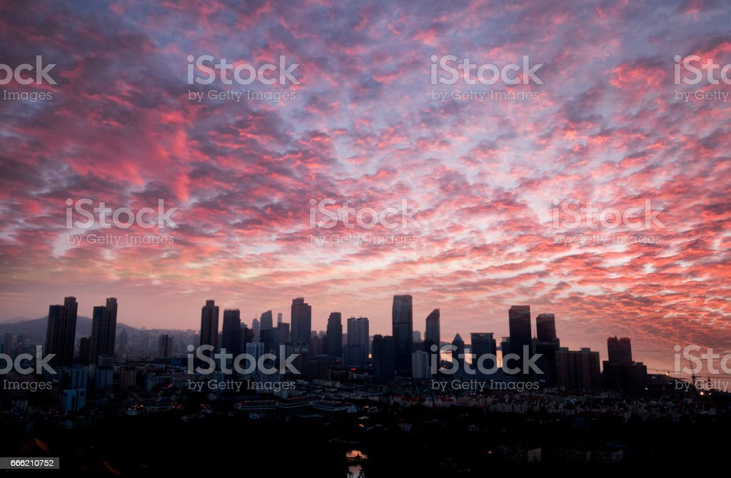 Qingdao morning stock photo