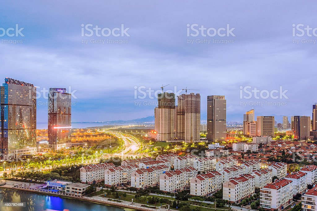 Qingdao skyline stock photo