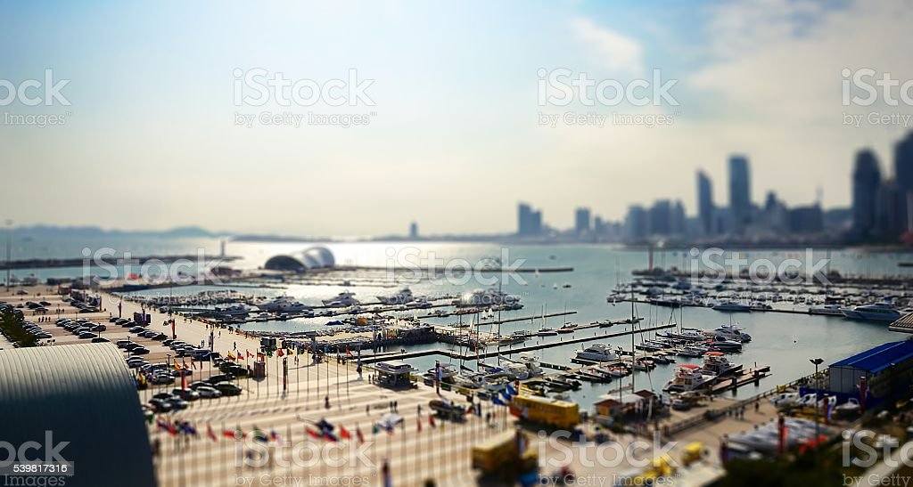 Qingdao yacht harbor, China stock photo