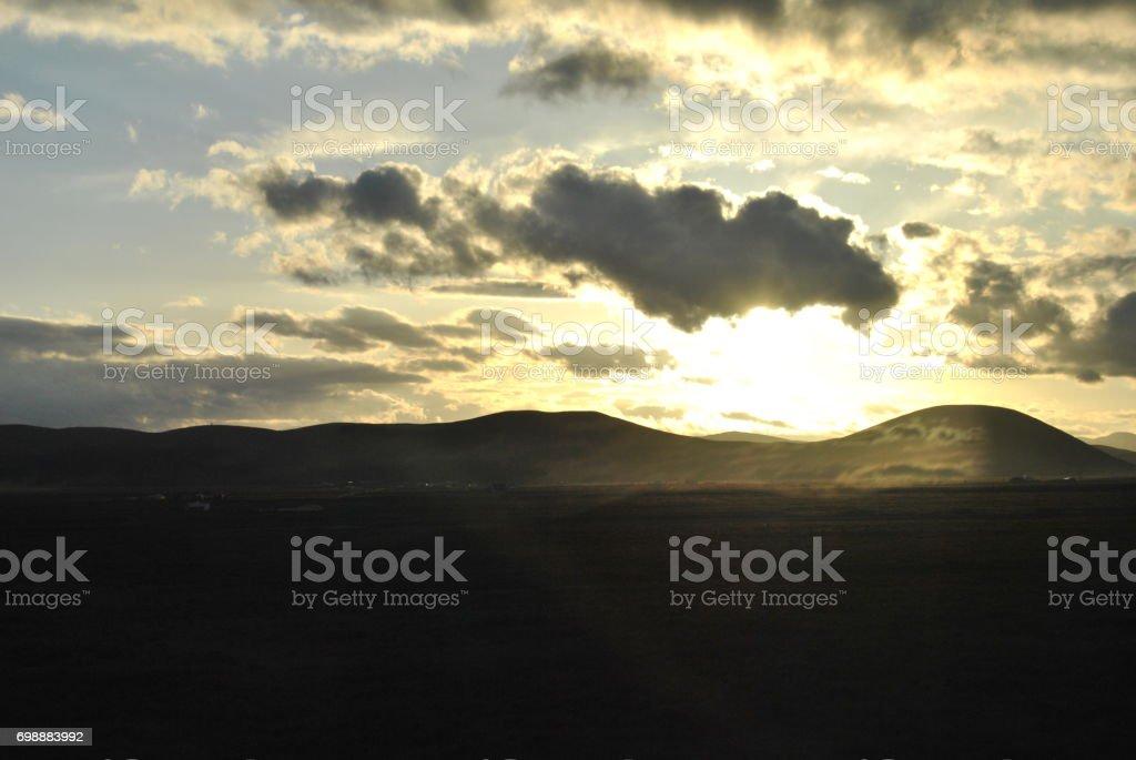 Qinghai Province Landscape stock photo