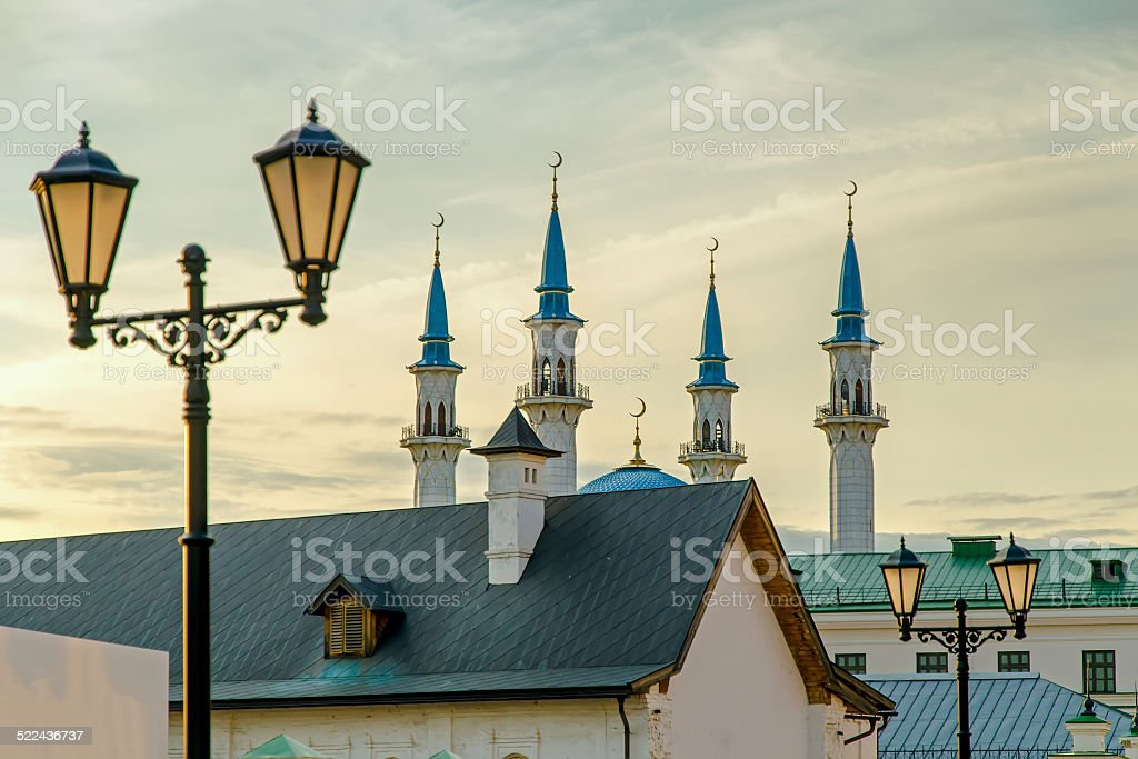 Qol Sharif (Qol Sherif,  Kol Sharif) mosque in Kazan. Russia stock photo
