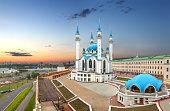 Qolsharif (Kul-Sharif) Mosque in Kazan Kremlin. Tatarstan, Russi
