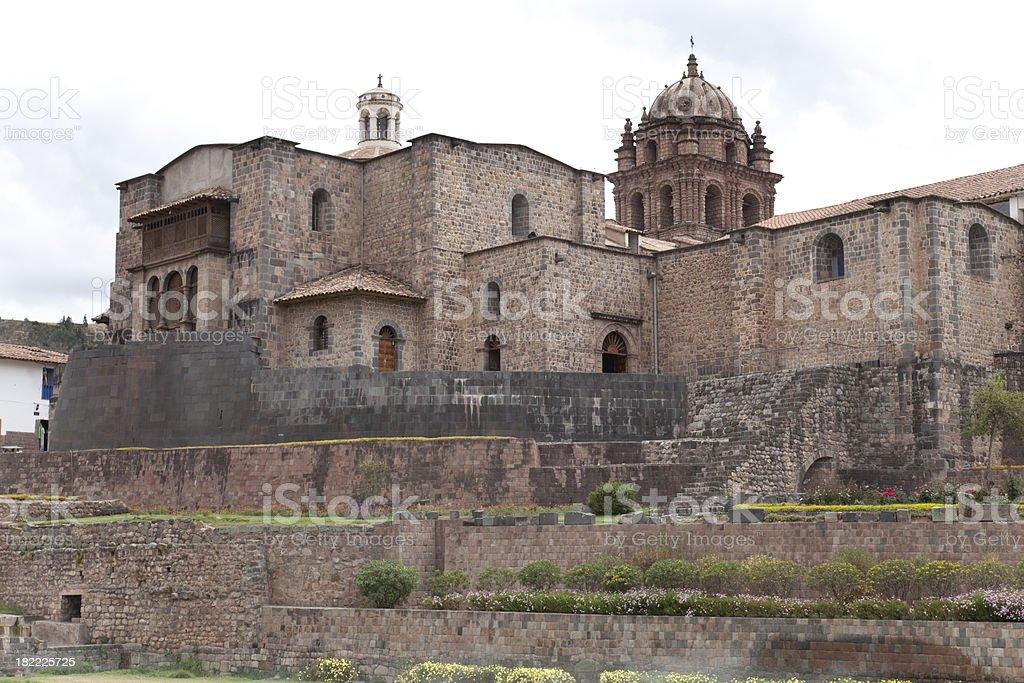 Qoricancha in Cusco stock photo