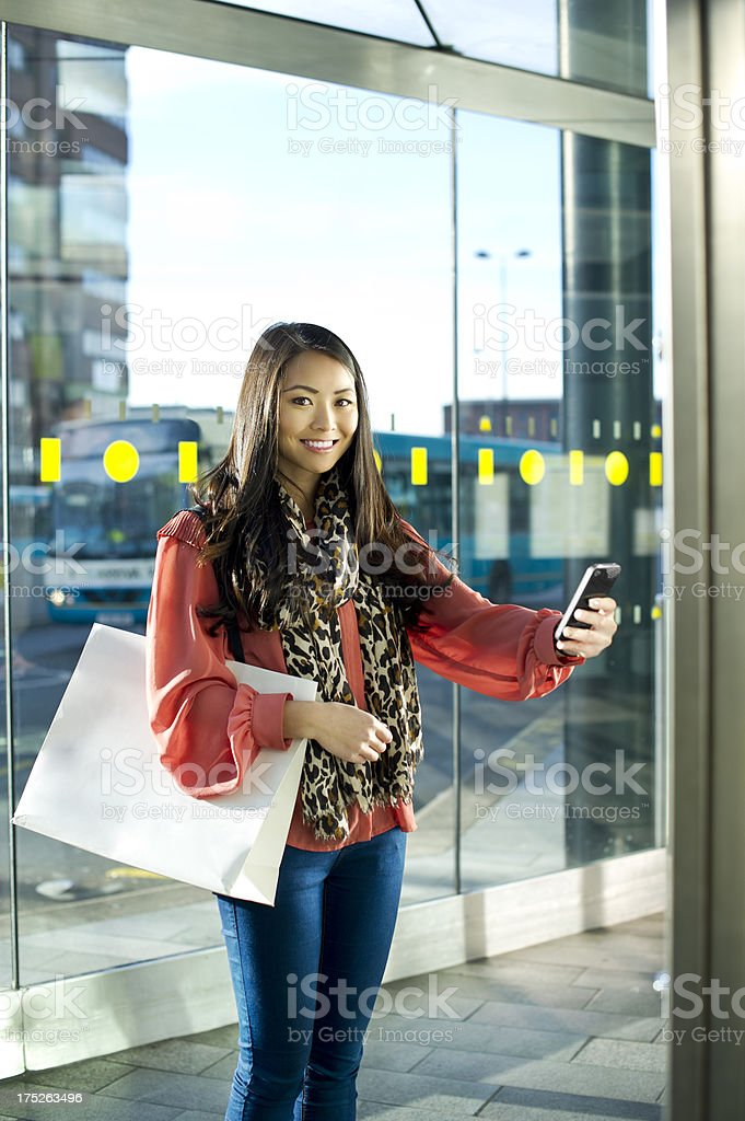 qr code bus station royalty-free stock photo