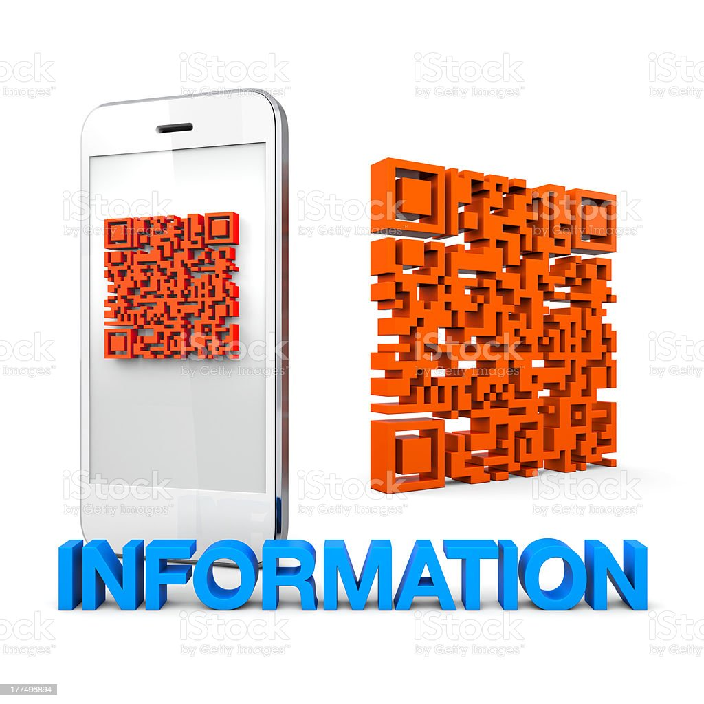 QRcode Mobile Phone Information stock photo