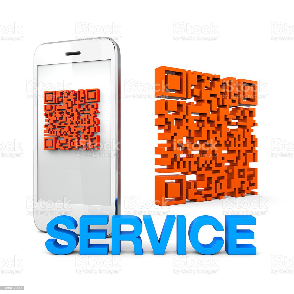 QRcode Mobile Phone Service stock photo