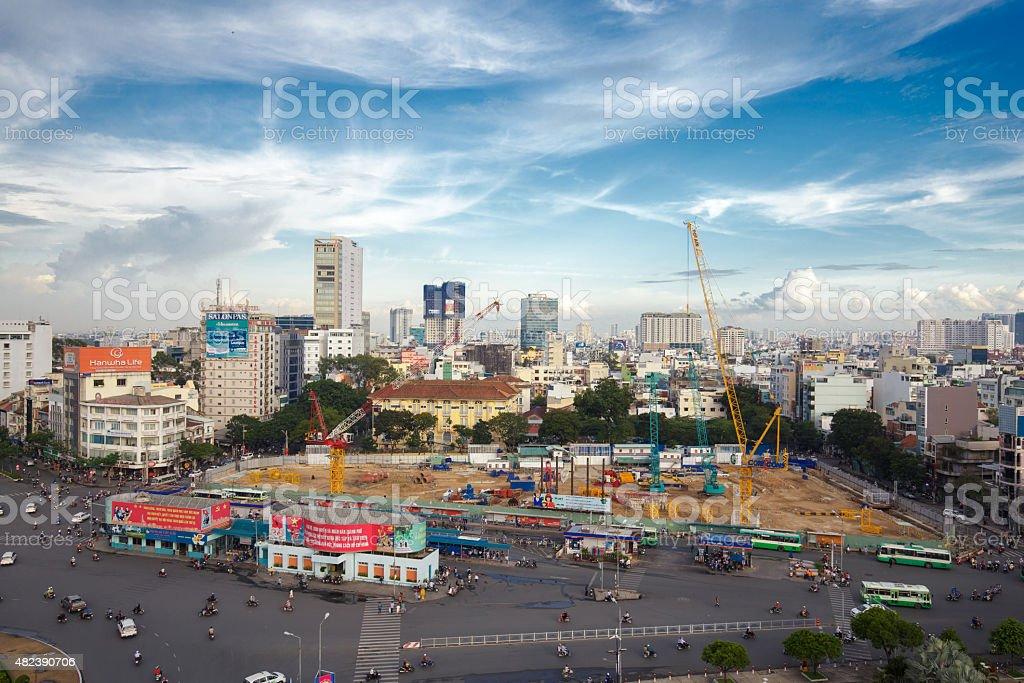 Quach Thi Trang roundabout at Ben Thanh market, Vietnam royalty-free stock photo