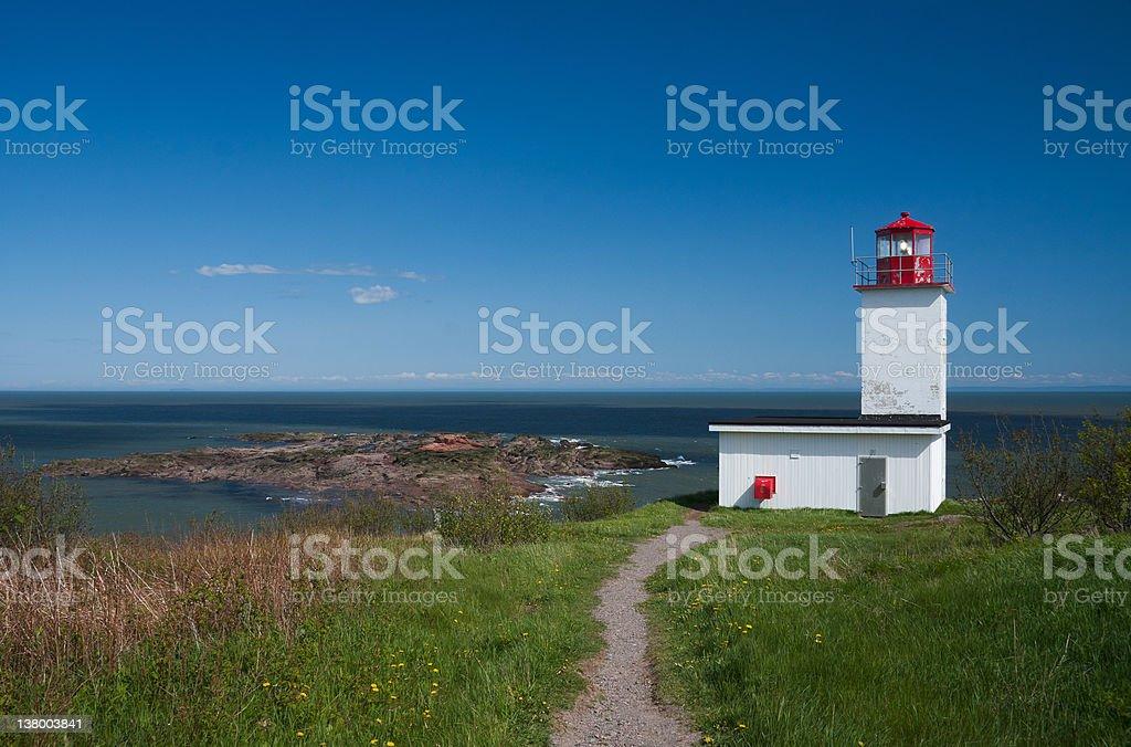 Quaco Head Lighthouse stock photo