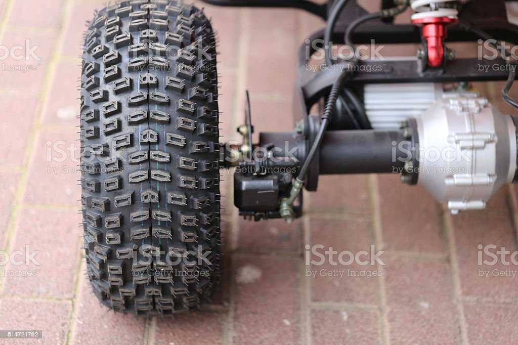 Quad Bike - Back view stock photo