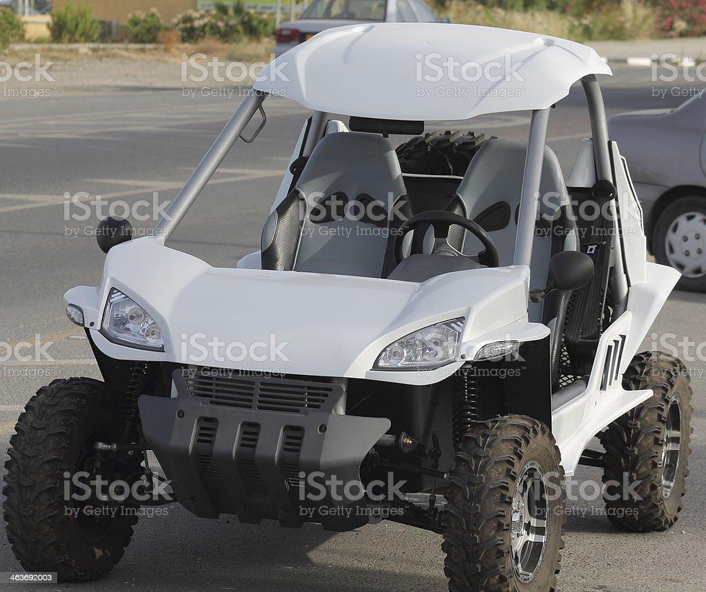 quad bike blanco foto de stock libre de derechos