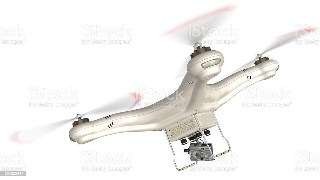 Quad Copter drone stock photo