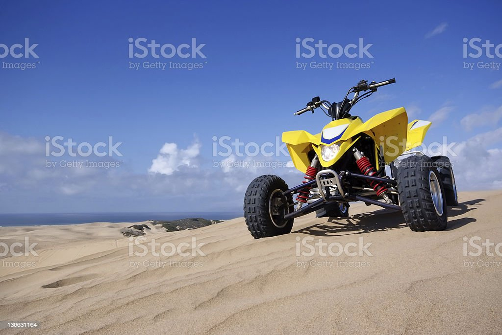 ATV Quad Racer stock photo