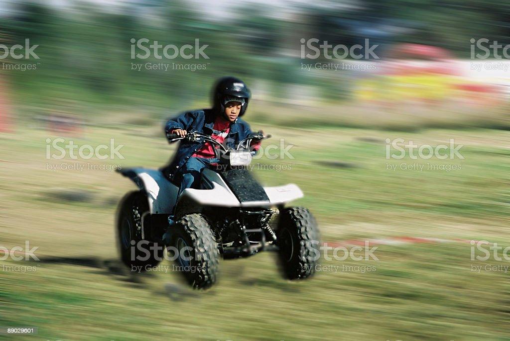 Quad racing royalty-free stock photo