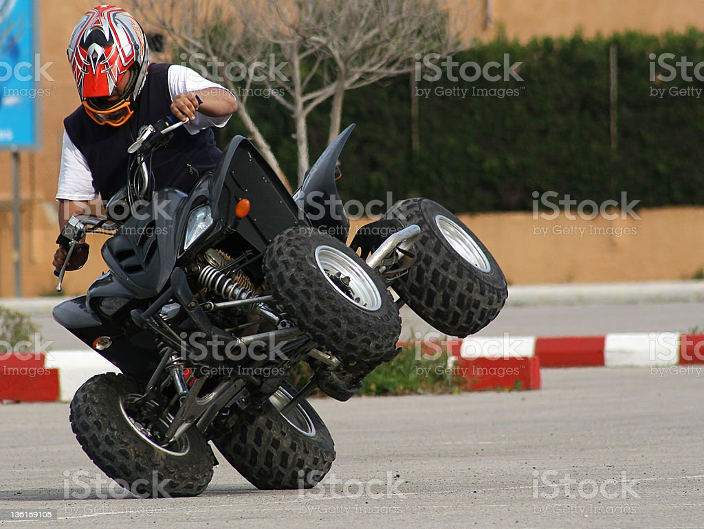 quad speed stock photo