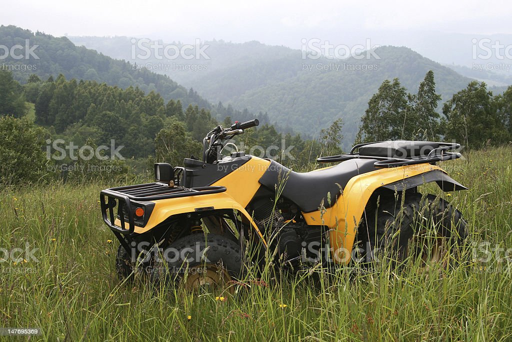 Quadbike stock photo