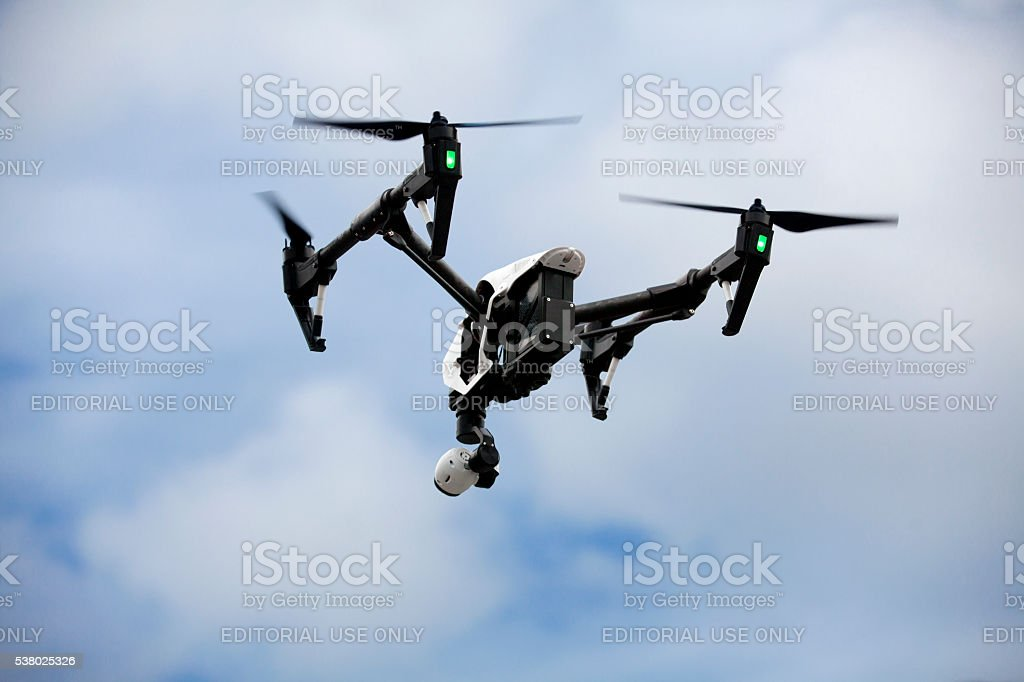 Quadrocopter Drone stock photo
