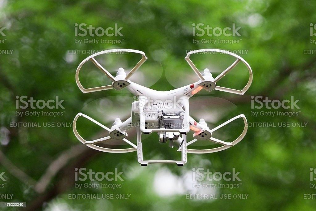 Quadcopter Phantom Drone stock photo