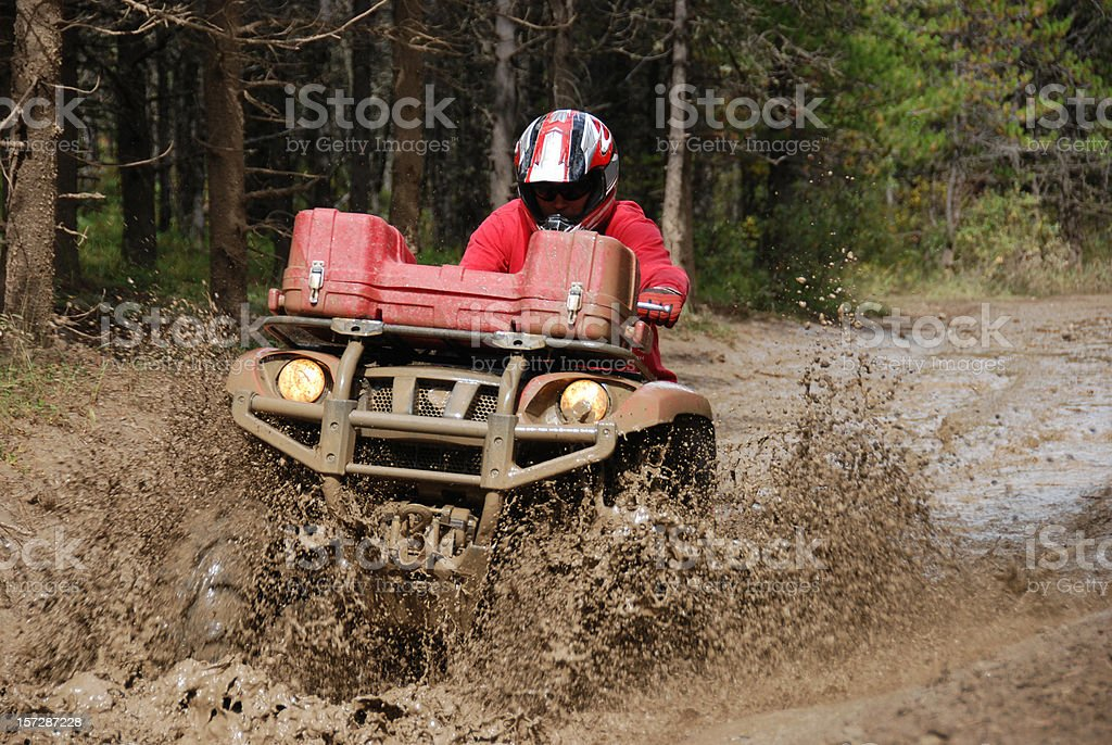 Quadding royalty-free stock photo