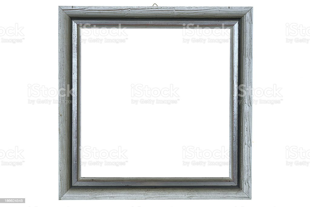 quadratic silver picture frame royalty-free stock photo