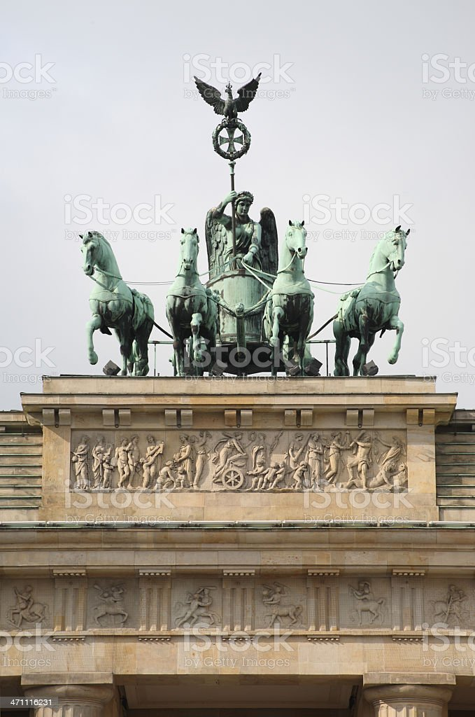 Quadriaga and Part of the 'Brandenburger Tor', Berlin stock photo