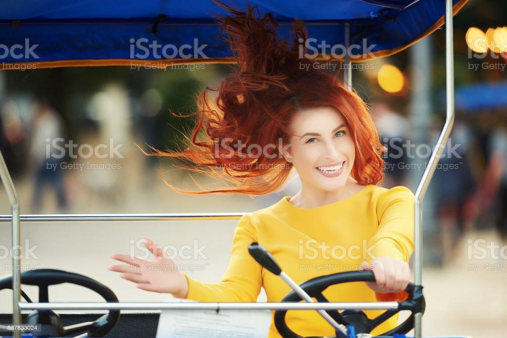 quadricycle fun time stock photo