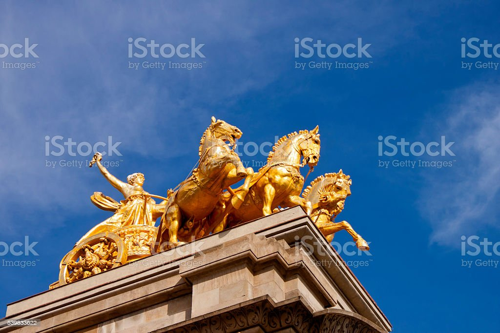 Quadriga of Aurora in Ciutadella Parc, Barcelona stock photo