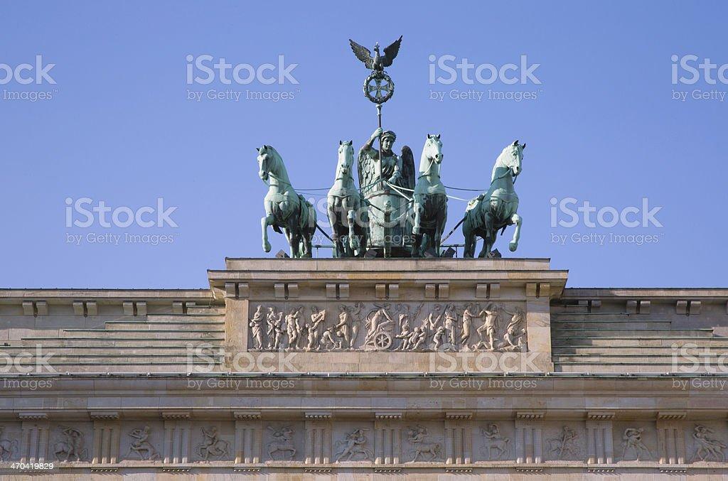 Quadriga of Brandenburg Gate in Berlin stock photo
