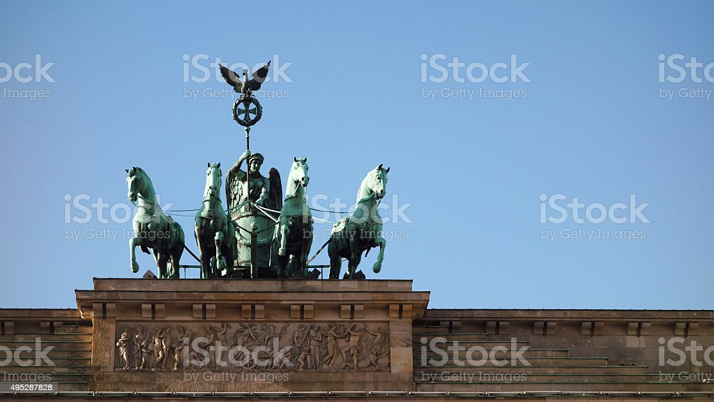 Quadriga of Brandenburger Tor stock photo