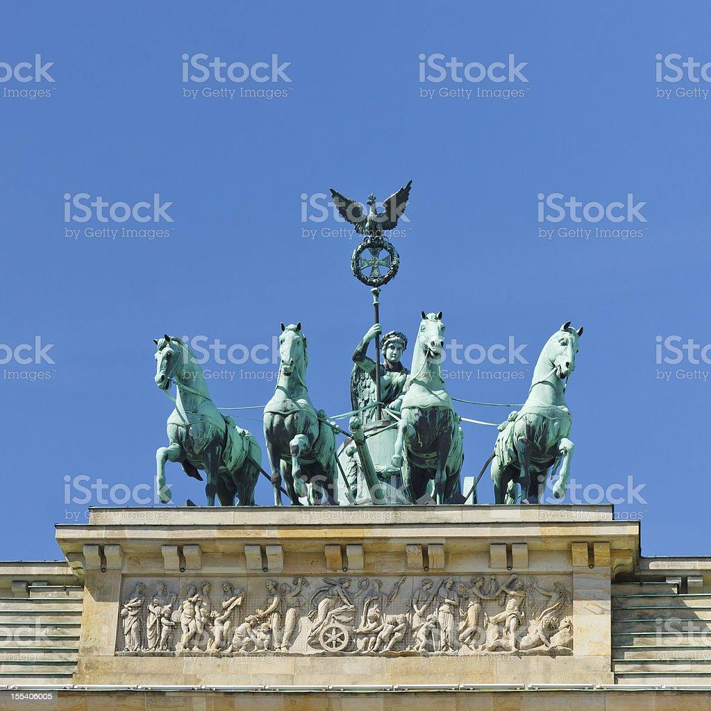 Quadriga on the Brandenburger Tor (Brandenburg Gate), Berlin stock photo