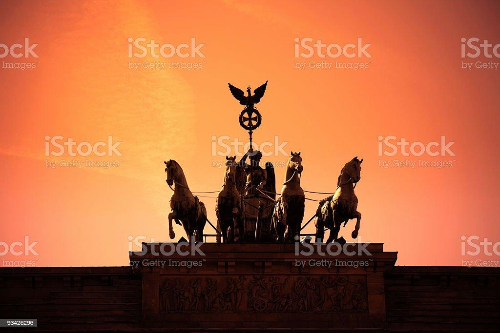 quadriga statue stock photo