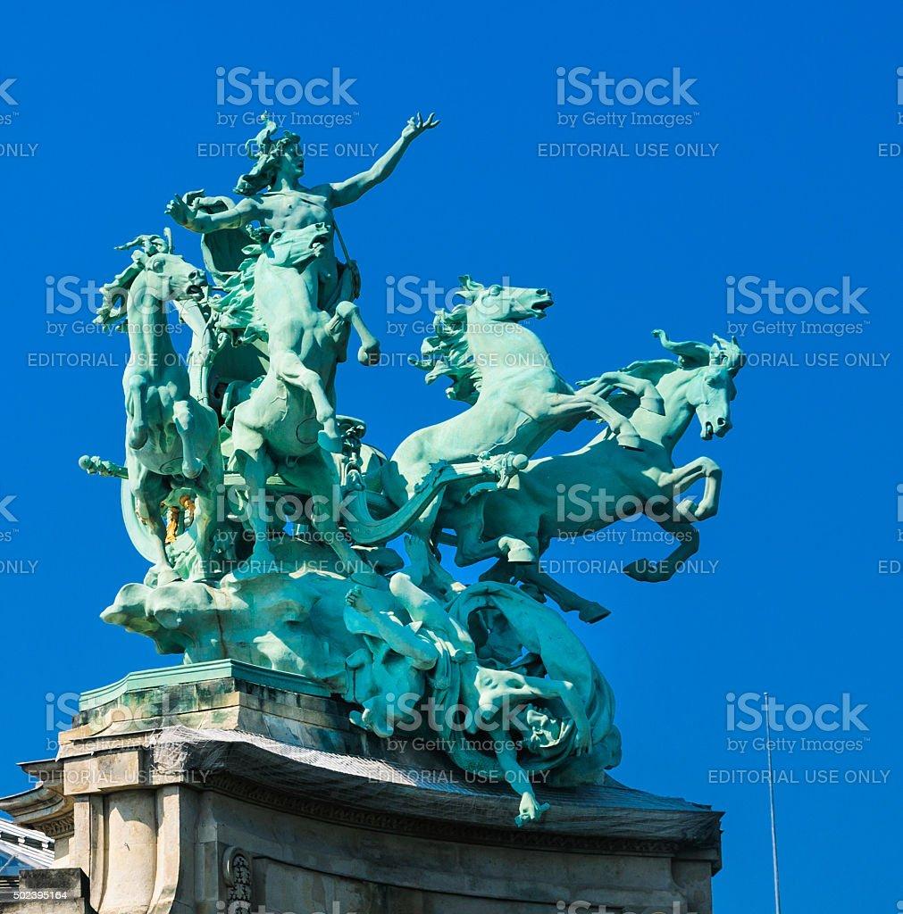 Quadriga Statue-Paris stock photo