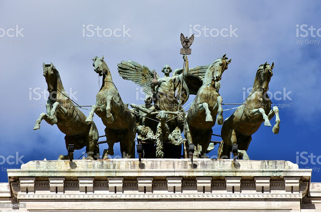 Quadriga with Goddess of Justice stock photo