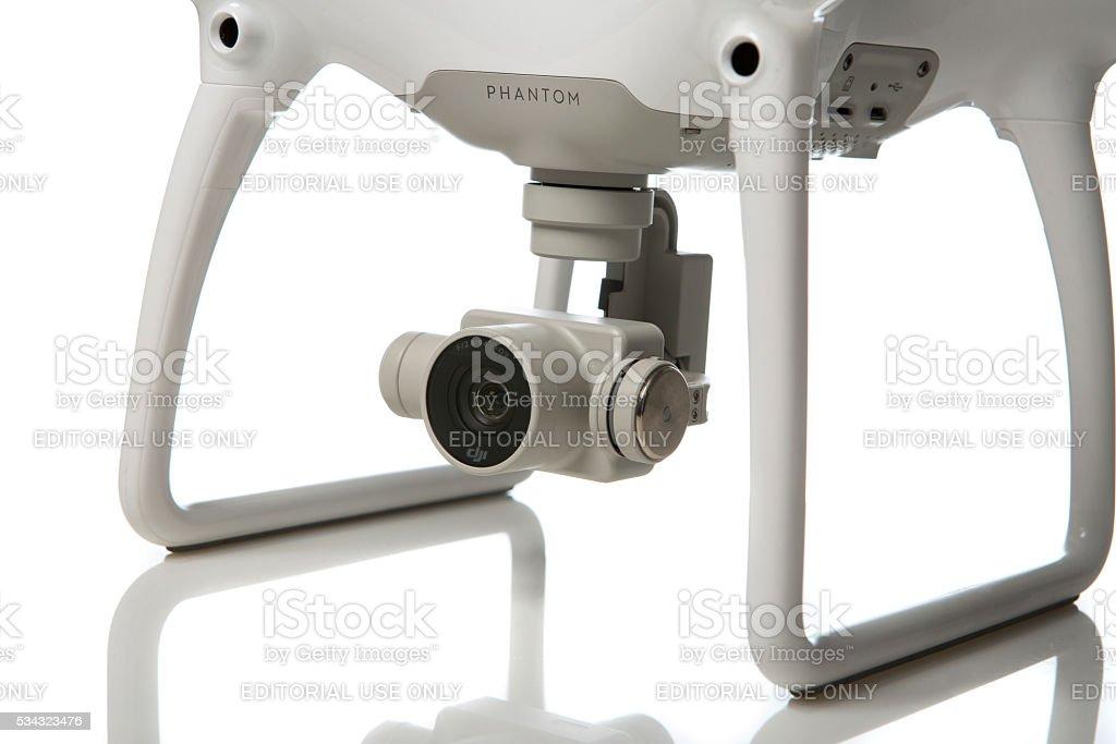 Quadrocopter close-up stock photo
