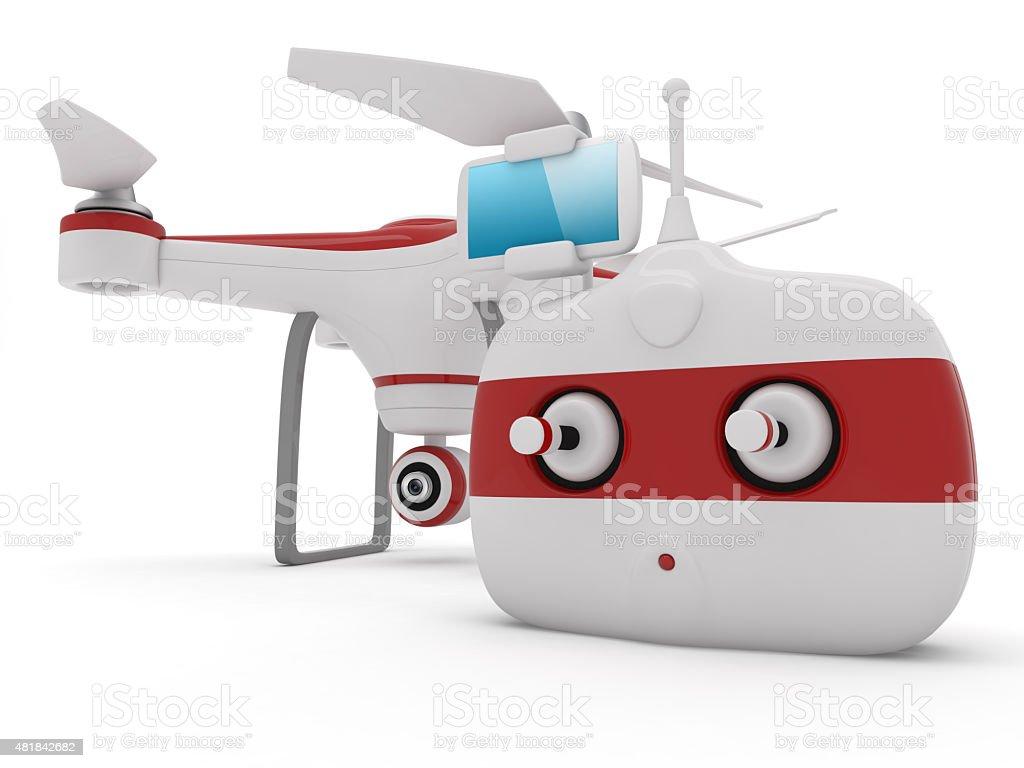 Quadrocopter drone stock photo