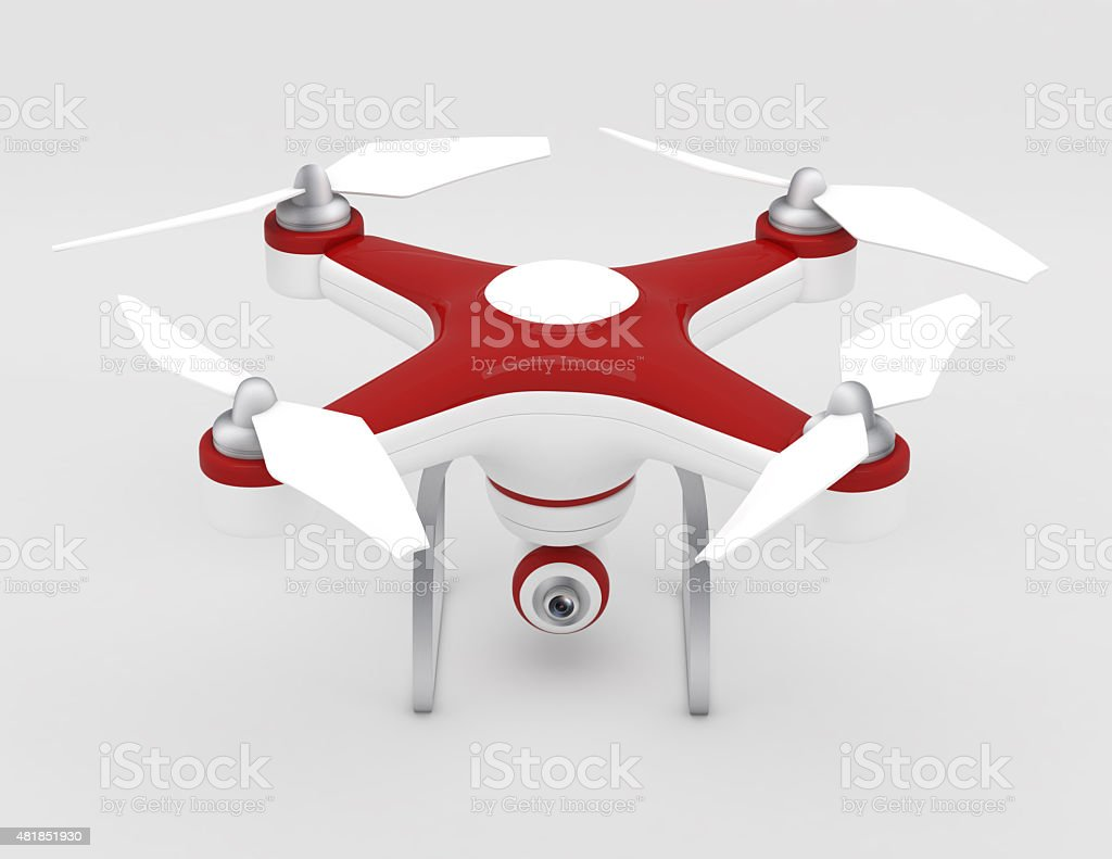 Quadrocopter drone with the camera stock photo
