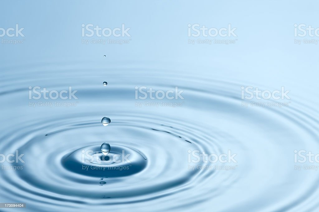 Quadruple droplets stock photo