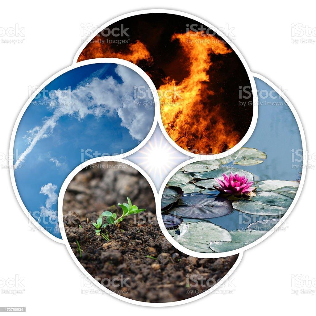 quadruple yin yang symbol stock photo