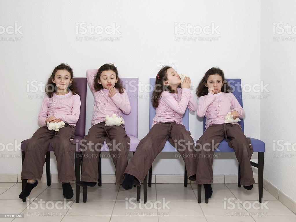 Quadruplet stock photo