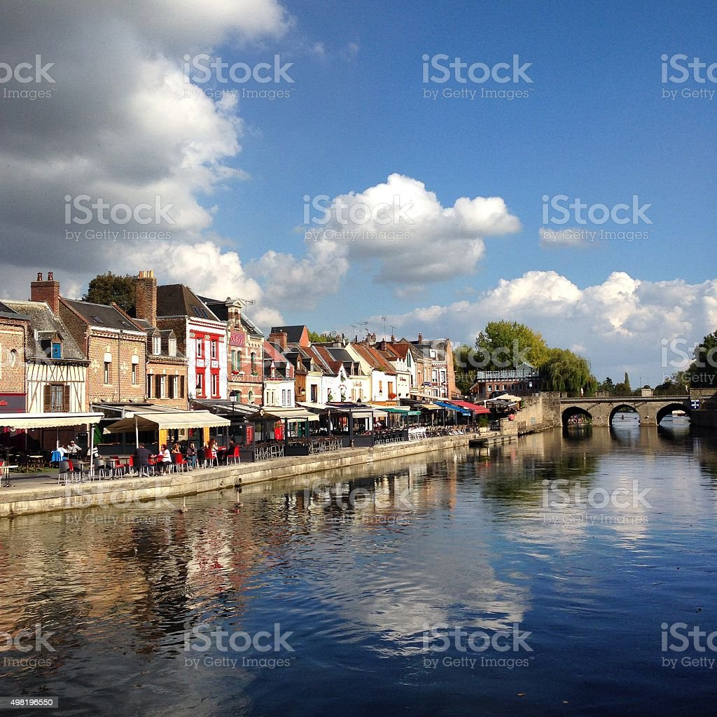 Quai Bélu, Saint Leu, Amiens, France stock photo